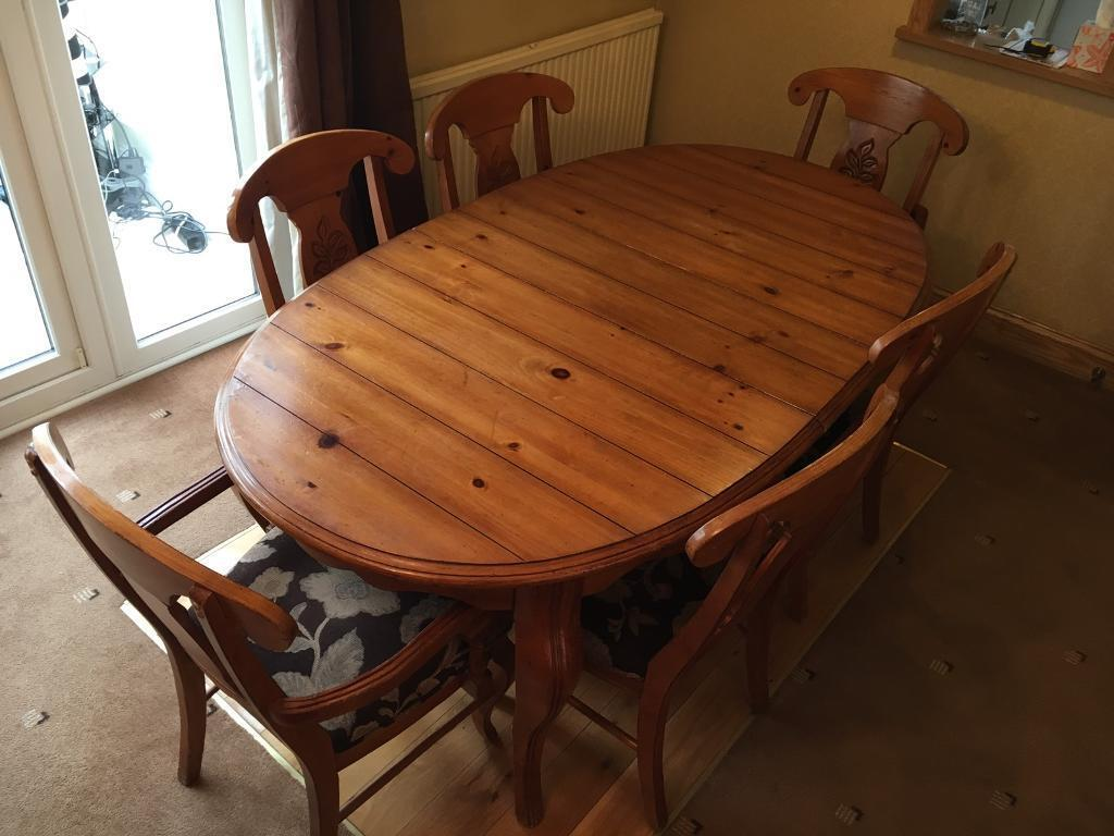 Solid Pine Dining Table From Furniture Village