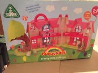 BNIB ELC Happyland Cherry Lane Cottage With Accessories RRP £60