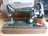 Hand operated Singer sewing machine