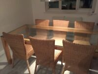 Dining table & 6 chairs - £200