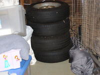 Four Steel wheels 5 X 13 X 22. (5J) Possibly from Triumph Spitfire