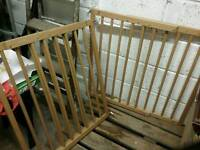 2 WOODEN CHILD SAFTY GATES