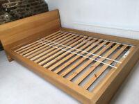 double bed frame Malm Ikea