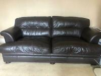 4 and 3 seater leather sofas