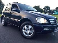 Mercedes-Benz M Class ML 270 CDI 5dr Blue, Long Mot Oct 17, Xenons, Full Leather Heated Seats