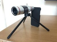 Iphone Lens /Telephone Manual Focus 18X with Mini tripod