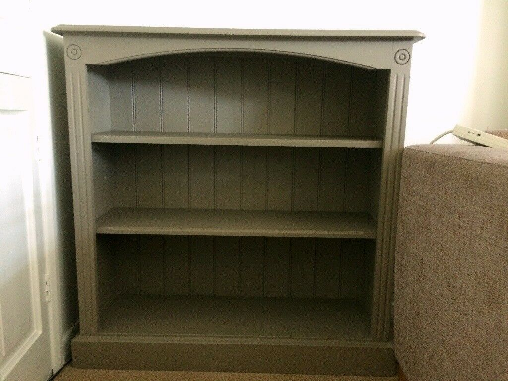 Stunning Solid Wood Bookcase Painted With Annie Sloan French Linen Chalk Paint And Varnished