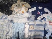 Bundle of newborn-2 month baby clothes