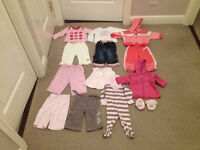 EXCELLENT CONDITION BUNDLE OF BABY GIRLS CLOTHES AGES (0-3/3-6) MONTHS