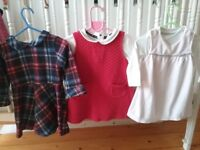 Baby girl clothing bundle size 9-12 months, pramsuits, dresses, shoes, sleepsuits, tights and vests