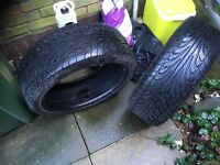 2x 225 40 r18 92w used tyres good condition