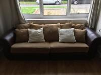 3 seater sofa and armchair, £75, needs to go asap