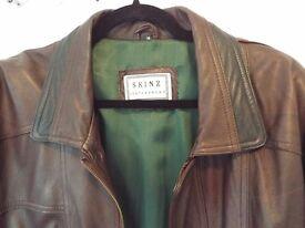 Mans 3/4 Length Leather Jacket/coat