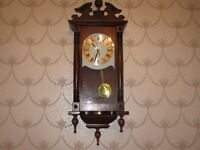 as new wood wall clock with glass door