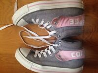 Converse high ankle shoes reversible back
