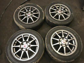 "honda integra dc2 type r oem alloy wheels 15"" 5x114 with tyres"