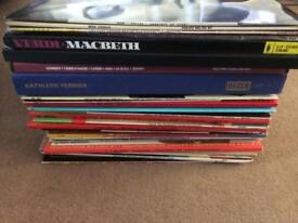 Mixed collection of vinyl albums