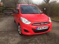 2014, I 10 HYUNDAI RED MANUAL ONE YEAR MOT LOW MILES 5000 CAT C IMMACULATE CONDITION