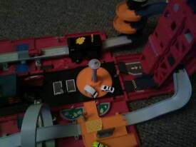 Fire engine fold out playset