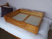 2 pine underbed storage drawers for sale
