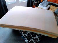 Used Warren Evans Memory Foam Mattress w/ free topper