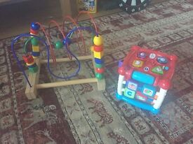 Ikea toy and vtech cube for sale