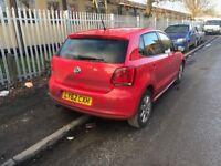 POLO 2013 DSG 7 SPEED AUTOMATIC AUTO DAMAGED REPAIRABLE CHEAP CAR IBIZA LEON GOLF JAZZ YARIS MICRA