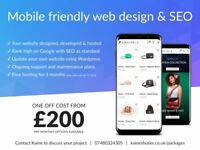 Bristol web design, development, SEO from £200 - UK website designer & developer