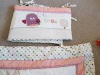 Lolly pop lane cot bed bedding and bumper