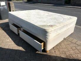 Double divan bed with drawers £60 delivered