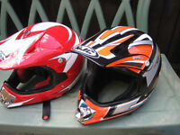 X2 CHILDS MOTORCROSS HELMETS EXCELLENT CONDITION