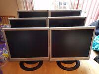 """6 x 19"""" Flat Screen Computer Monitors"""
