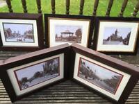 Large framed historical pictures of Swindon (set of 7)