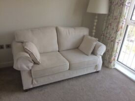 Cream sofa bed,2 seater, like new - brand Willow and Hall