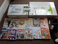 Wii with games, accessories, 2 controllers, wii active motion