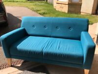 Two and Three Seater Teal John Lewis Sofas