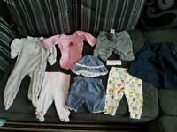 Baby clothes vest babygrow dress hat set