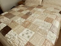 King Size Quilted Bed Throw