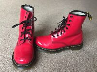 Dr martens boots red