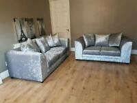 sofa velvet crush 3+2 seater brand new