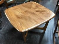 Square Coffee Table by Ercol. Retro Vintage Mid Century