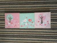 3 small canvas prints - brand new