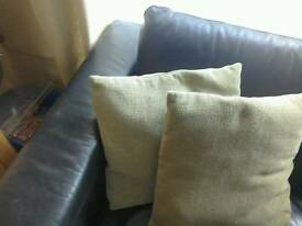 Two green next cushions