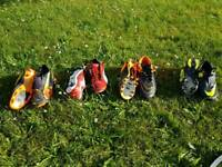 Various Football Boots