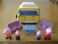 Peppa Pig Camper Van set & figures