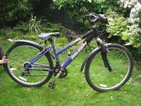 "Children's Raleigh Bike, 26 "" wheels, 18-speed Shimano gears. Good condition"