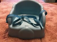 Baby chair booster seat rigid and sits on your chair suitable from 6 months old.