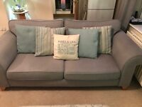 dfs latitude Three seater sofa grey , chair and footstool