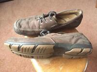 Men's size 8 Clarks Brown Suede very comfortable shoes, worn 3 times