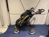 MacGregor clubs Dunlop trolly